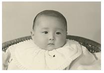 赤ん坊の頃の中川郁子